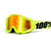 100% Accuri Goggle Anti Fog Mirror Lens / flue/yellow